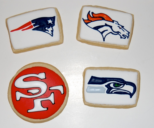 NFL Playoff Sugar Cookies