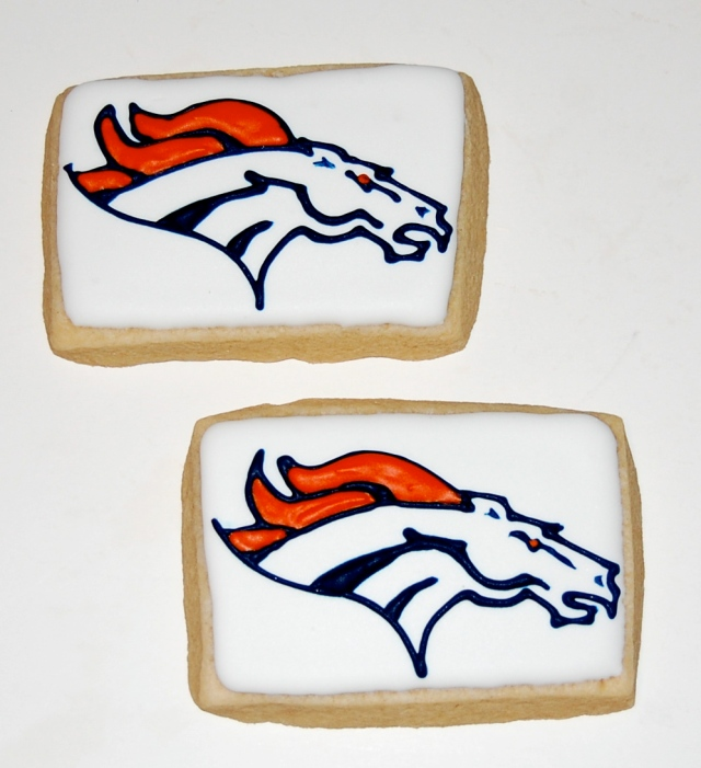 Denver Bronco Sugar Cookies