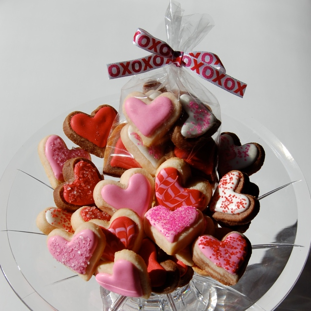 Mini Heart Sugar Cookies for Valentine's DAy