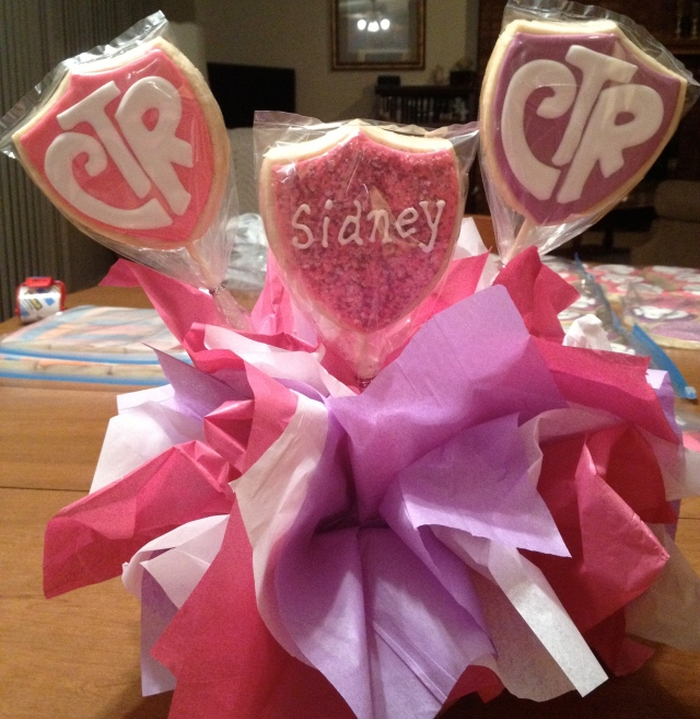 Girl Baptism CTR Cookie Bouquet
