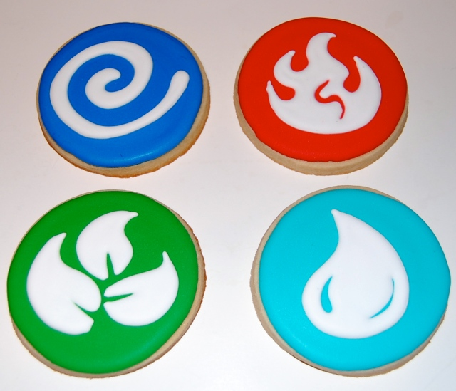 Skylander Elements Sugar Cookies