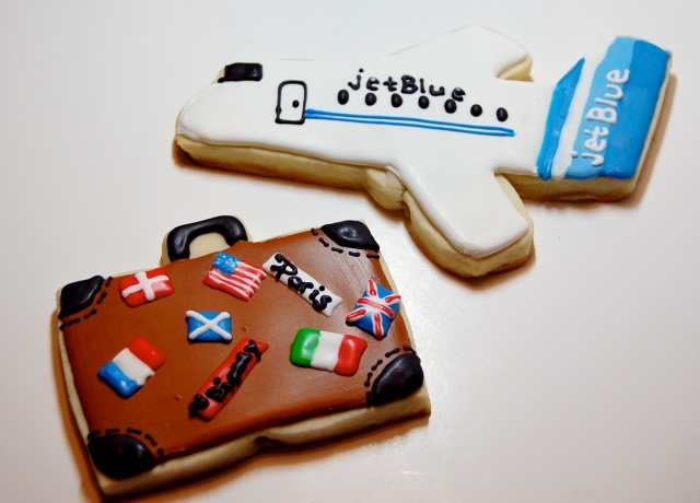 Suitcase Sugar Cookie and Plane Sugar Cookie
