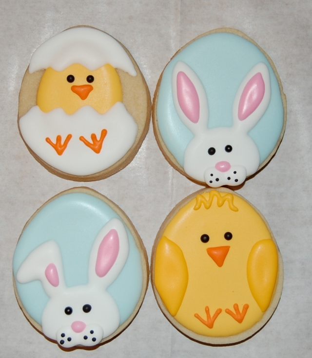 Easter Sugar Cookies - Chick Sugar Cookies and Bunny Sugar Cookies