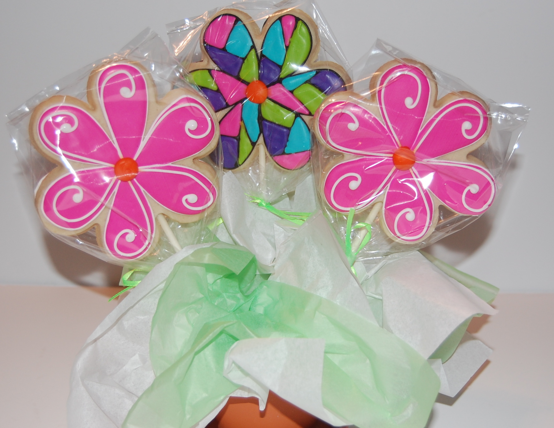 Double Sided Flower Sugar Cookie Bouquet