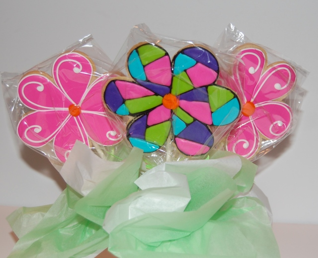 Double Sided Flower Sugar Cookie Bouquet - back