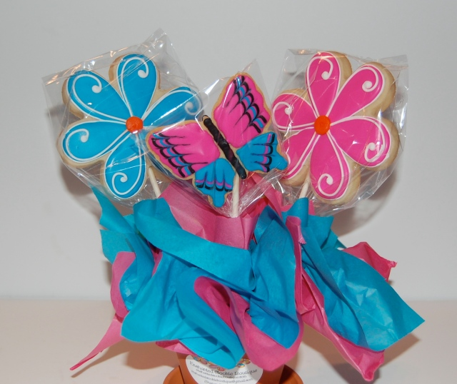 Double Sided Sugar Cookie Bouquet - front