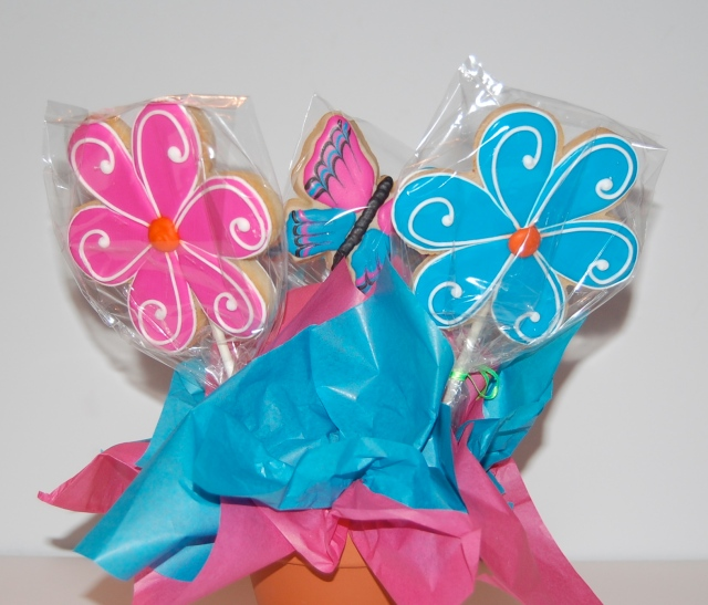 Double Sided Sugar Cookie Bouquet - back