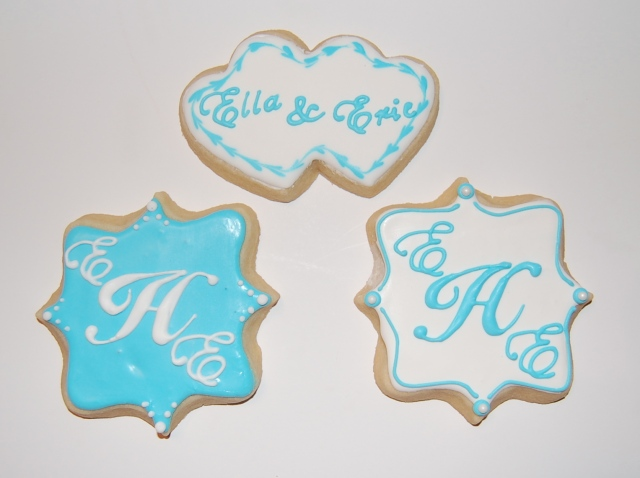 Monogram Wedding Sugar Cookies