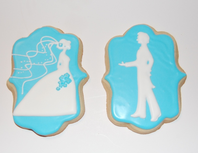 Bride Sugar Cookie and Groom Sugar Cookie